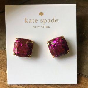 Kate Spade purple pink glitter earrings